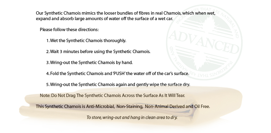 how to clean a synthetic chamois